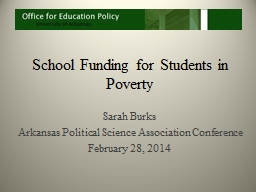 School Funding for Students in Poverty