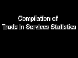 Compilation of Trade in Services Statistics