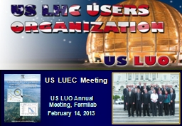 US LUEC Meeting