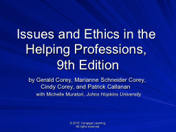 PDF Download Becoming An Ethical Helping Professional Free