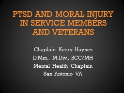 PTSD and Moral Injury