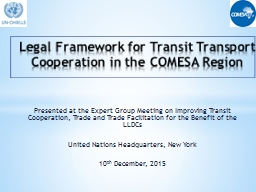 Presented at the Expert Group Meeting on Improving Transit