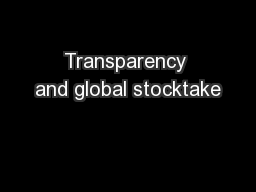 Transparency and global stocktake