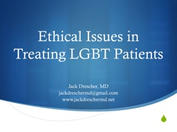 Ethical Issues in Treating LGBT Patients