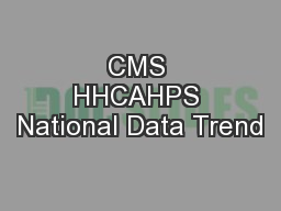 CMS HHCAHPS National Data Trend PowerPoint PPT Presentation