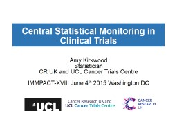 Central Statistical Monitoring in Clinical Trials