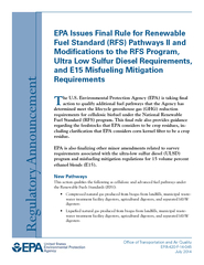 EPA Issues Final Rule for Renewable Fuel Standard RFS