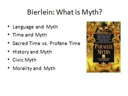 Bierlein: What is Myth?