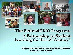 Getting to Know Your TRIO Programs in Appalachia PowerPoint PPT Presentation
