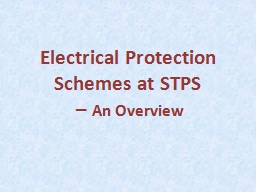 Electrical Protection Schemes at PowerPoint PPT Presentation