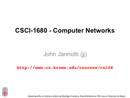 CSCI-1680 - Computer Networks