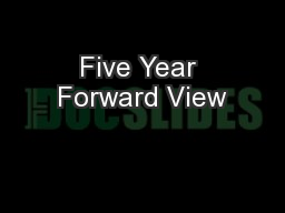 Five Year Forward View
