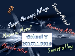 Shape Memory Alloys PowerPoint PPT Presentation