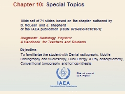Slide set of 71 slides based on the chapter authored by