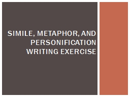 Simile, Metaphor, and PowerPoint PPT Presentation