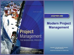 An Overview of Project Management 6e.