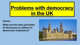 Problems with democracy in the UK