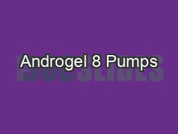 Androgel 8 Pumps
