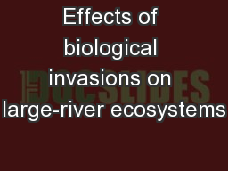 Effects of biological invasions on large-river ecosystems PowerPoint PPT Presentation