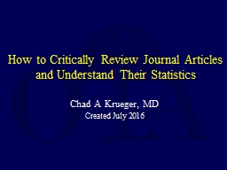 How to Critically Review Journal Articles and Understand Th
