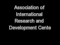 Association of International Research and Development Cente