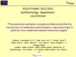 """""""Postoperative medication compliance before and after the"""
