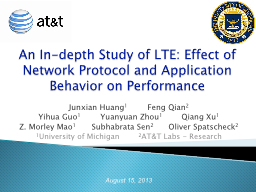 An In-depth Study of LTE: Effect of Network Protocol and Ap