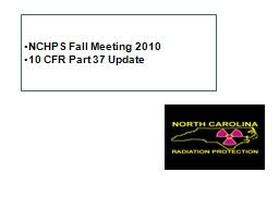 NCHPS Fall Meeting 2010 PowerPoint PPT Presentation