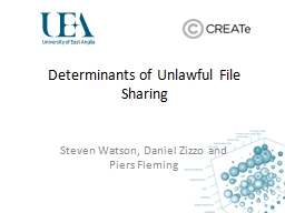 Determinants of Unlawful File Sharing PowerPoint PPT Presentation