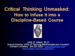 Critical Thinking Unmasked: PowerPoint PPT Presentation