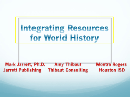 Integrating Resources for World History