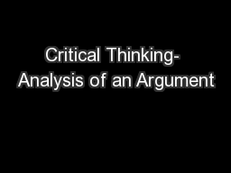 teaching and assessing critical thinking skills for argument analysis in psychology Listed below are articles on critical thinking contrast, analysis, and academic argument university to teaching critical thinking skills to.