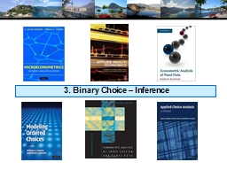3. Binary Choice � Inference