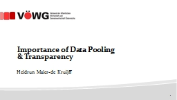Importance of Data Pooling