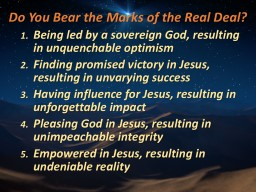Do You Bear the Marks of the Real Deal?