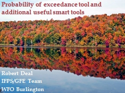 Probability of exceedance tool and additional useful smart PowerPoint PPT Presentation