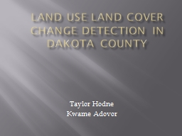 Land use land cover change detection in