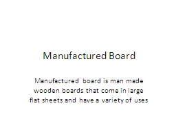 Manufactured Board