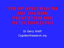 THE SP SYSTEM PowerPoint PPT Presentation