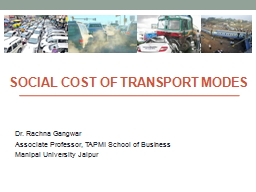 Social Cost of Transport Modes
