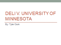 Deli v. University of Minnesota