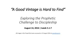 """A Good Vintage is Hard to Find"" PowerPoint PPT Presentation"