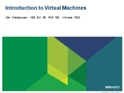 Introduction to Virtual Machines PowerPoint PPT Presentation