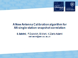 A New Antenna Calibration algorithm for PowerPoint PPT Presentation