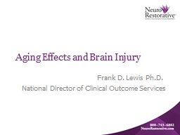 Aging Effects and Brain Injury