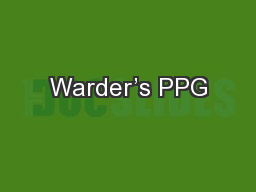 Warder's PPG PowerPoint PPT Presentation