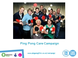 Ping Pong Care