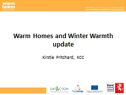 Warm Homes and Winter Warmth update