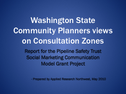 Washington State Community Planners views on Consultation Z