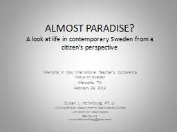 ALMOST PARADISE? PowerPoint PPT Presentation